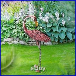 Flamingo Decor Accent Decoy Garden Yard Patio Lawn Statue Bird Porch Art Home