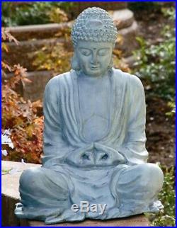 Garden Buddha Statue Sculpture Zen Patio Lawn Yard Art Metal SPI Home 31299