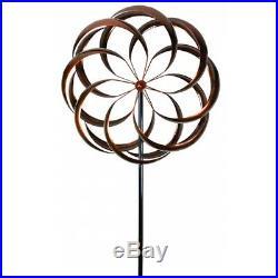 Garden Kinetic Wind Spinner Sculpture Steel Metal Yard Decor Windmill Lawn Stake