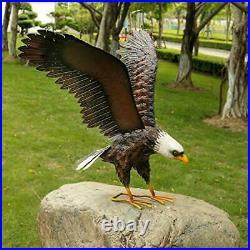 Garden Sculpture & Statue, Bald Eagle Large Outdoor Statues Metal Yard Art