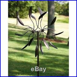 Garden Statues And Sculptures Spinning Metal Yard Art Decor Wind Spin Pin Wheel