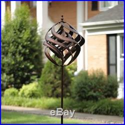 Garden Wind Spinner Yard Decor Outdoor Copper Metal Art Windmill Sculpture Lawn