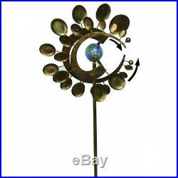 Garden Wind Spinner Yard Decor Outdoor Kinetic Metal Art Windmill Sculpture NEW