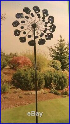 Garden Wind Spinner Yard Decor Peacock Kinetic Metal Art Windmill Sculpture
