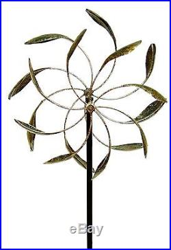 Garden Wind Spinner Yard LawnDecor Outdoor Kinetic Metal Art Windmill Sculpture