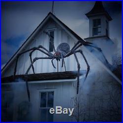 Gargantuan Spider 9 ft. Scary Halloween Yard Decor Sculpture Giant Poseable Legs