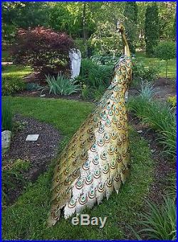 Perfect Giant 66 Beautiful Metal Outdoor Peacock Art Sculpture Garden Yard Decor  Zaer