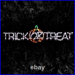 Halloween Trick of Treat Sign LED Yard Art Outdoor Display Lighted Lawn Decor