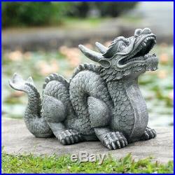 Honorable Dragon Garden Sculpture Sculpture outside yard decor garden statue BUD