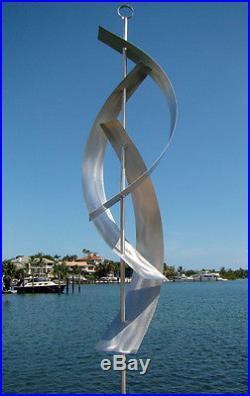 Huge Silver Modern Abstract Metal Sculpture Indoor/Outdoor Home & Yard Decor