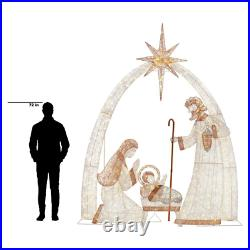 Indoor Outdoor Holiday Christmas Yard Decor LED Giant Nativity Scene 10 ft