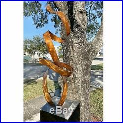 Jon Allen Abstract Copper Metal Garden Sculpture Yard Art Outdoor Centerpiece