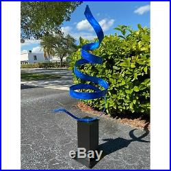Jon Allen Metal Art Large Sculpture Modern Blue Garden Yard Indoor Outdoor Decor
