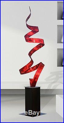 Jon Allen Metal Art Sculpture Large Abstract Red Freestanding Garden Yard Decor