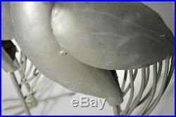 LARGE Heron Pair Coastal Metal Garden Statue Crane Bird Yard Art Sculpture 34