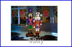 LED Tinsel Nutcracker 72 in Christmas Yard Decor Outdoor Home Party Holiday