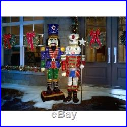 LED Tinsel Nutcracker Holiday Christmas Decoration Home Outdoor Yard 72 in Tall