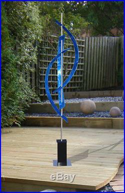 Large Blue Metal Indoor/Outdoor Abstract Yard Art Sculpture by Jon Allen