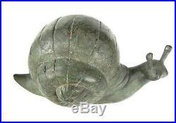 Large Bronze Snail Snail Sculpture Garden Statue Yard Ornament Feng Shui Decor