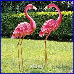 Large Garden Sculpture Metal Statue Garden Outdoor Lawn Flamingo Yard Art Decor