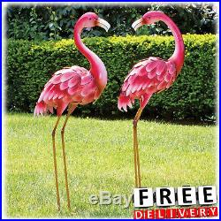 Large Garden Sculpture Metal Statue Outdoor Lawn Flamingo Yard Art Decor