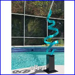 Large Modern Abstract Metal Sculpture Garden Art Yard Decor Jon Allen Aqua Blue