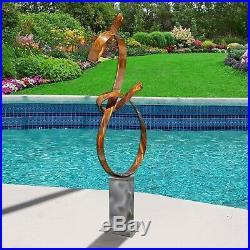 Large Modern Metal Garden Sculpture Copper Yard Art Home Garden Decor Jon Allen