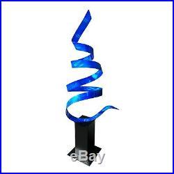Large Modern Metal Sculpture Blue Indoor Outdoor Yard Garden Decor Jon Allen 49