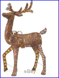 Led Animated PVC Deer Christmas Yard Decorations Indoor Outdoor 60 Brown