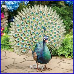 Life Size Peacock Sculpture Statue Garden Yard Home Decor 3d Handpainted