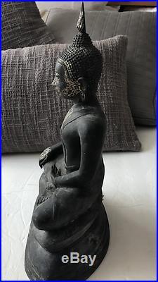 Meditating Buddha Metal Statue Perfect 4 Outdoor Garden Patio or Yard Sculpture