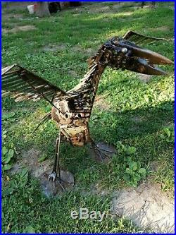 Metal Bird Art Yard Sculpture by Artist