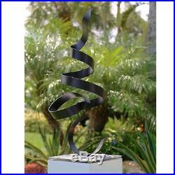 Metal Black Garden Sculpture Yard Art Indoor Outdoor Decor Original by Jon Allen
