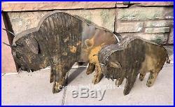 Metal Buffalo Yard Decor Sculpture MTBFS001
