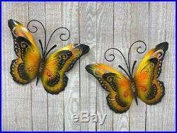 Metal Butterfly Wall Sculpture Fence Art Yard Indoor/Outdoor Lawn Garden Decor
