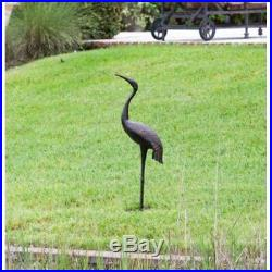 Metal Crane Bird Decoy Garden Decor Patio Outdoor Yard Accent Pond Aluminum New