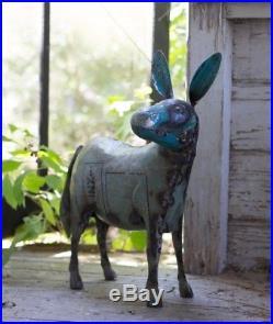 Metal Donkey Yard Art Donkey Statue Sculpture Recycled Metal Donkey