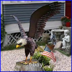 Metal Eagle Outdoor Decoration Garden Statue Bird Sculpture Art Lawn Statue Yard