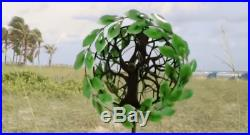 Metal Garden Art Wind Spinner Tree of Life Sculpture Outdoor Lawn Yard Decor New