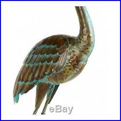 Metal Garden Crane Statues Heron Pair Outdoor Patio Pond Yard Bird Sculpture Art