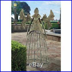 Metal Garden Steel Gothic Trellis Arbor Patio Large Sculpture Decor Outdoor Yard