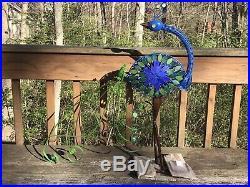 Metal Peacock Garden Decor Sculpture Yard Lawn Pond Patio Art Home Statue 28