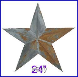 Metal Rustic Barn Star, home, yard, wall Decor, 24 Antique Primitive Star (48pcs)