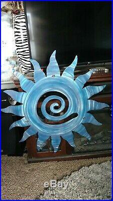 Metal Wall art Sun home Decor Garden and yard Art Indoor Outdoor Patio Swirl sun