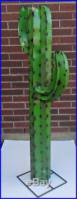 Metal Yard Art Saguaro Cactus Sculpture 4 5 Foot Tall