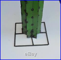 Metal Yard Art Saguaro Cactus Sculpture 52 (4' 4) Tall Green