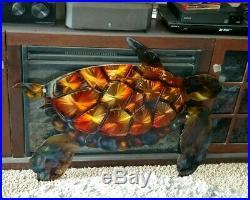 Metal wall art sea turtle Wall Decor, Outdoor yard art, beach house Decor turtle