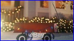 Metallic Christmas WAGON 3 FT LED Lighted Outdoor Yard Decoration