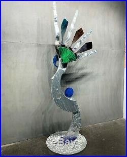 Modern Contemporary Indoor Outdoor Metal Sculpture Yard Garden Art by Sebastian