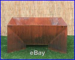 Modern Fire Pit. Steel. Yard Fire Pit. Metal Fire Bowl. Metal Garden Sculpture